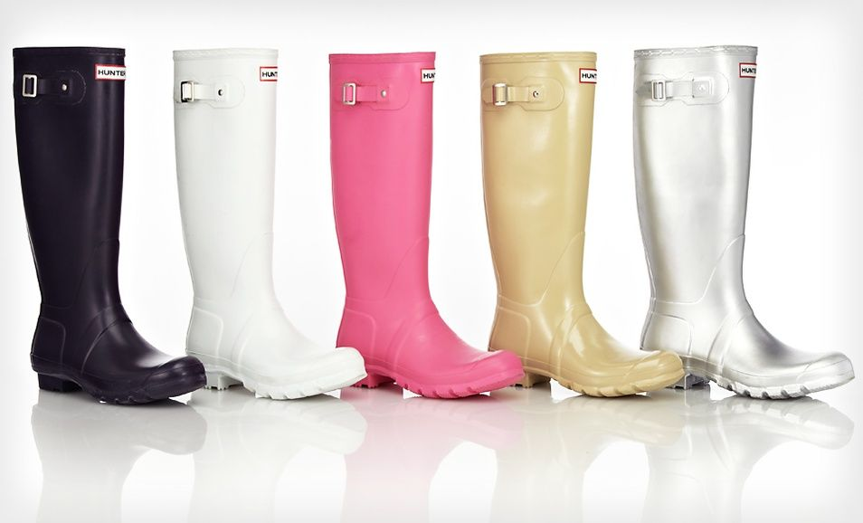 48a865af836 Hunter Rain Boots on SALE on Groupon -   89.99 ( 135 List Price). Multiple  Options Available. Free Shipping..  sale  dailydeal  hunterboots