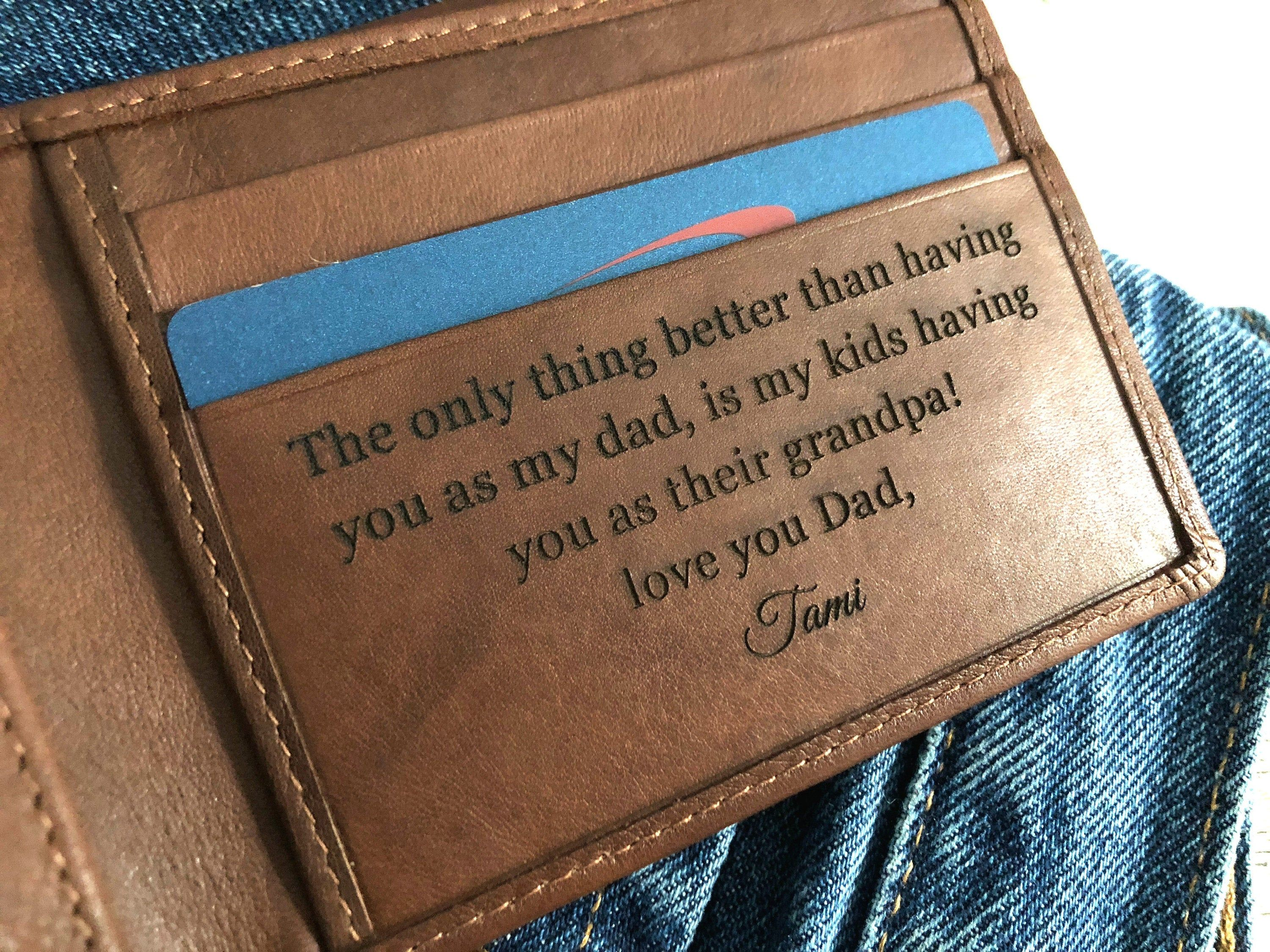 Christmas Gift Wallet Personalised Anniversary Birthday father day Dad Grandad