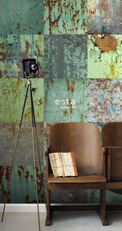 Esta Home Vintage Rules! WallpaperXL Metalen platen 158203   Esta Home Vintage Rules!   www.behangwereld.nl Ik houd van die dramatische tinten turkooise !