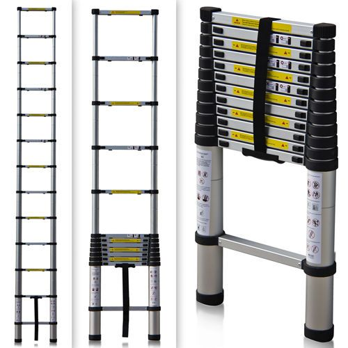 En131 Std 12 5ft Aluminum Telescopic Telescoping Ladder Extension Extend Loft 78 95 Gifts For Rv Owners Ladder Rv Gifts