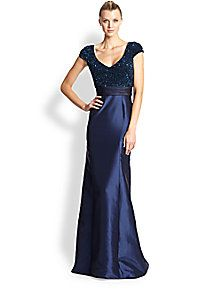 Theia - Sequin Faille Gown