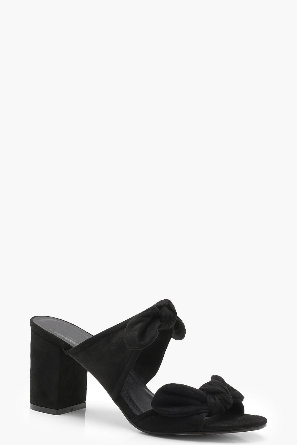 fa18668f3d2 Double Bow Detail Mule Heels in 2019 | Shoes | Heeled mules, Heels, Bows
