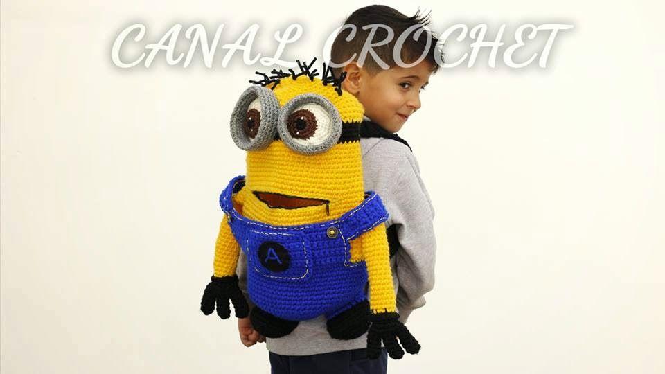 Patron Minion Amigurumi : Mochila minion a crochet amigurumi patrón gratis en español y con