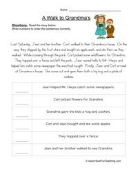 Order of Events Worksheet 1 | Sequences, Of and Reading worksheets