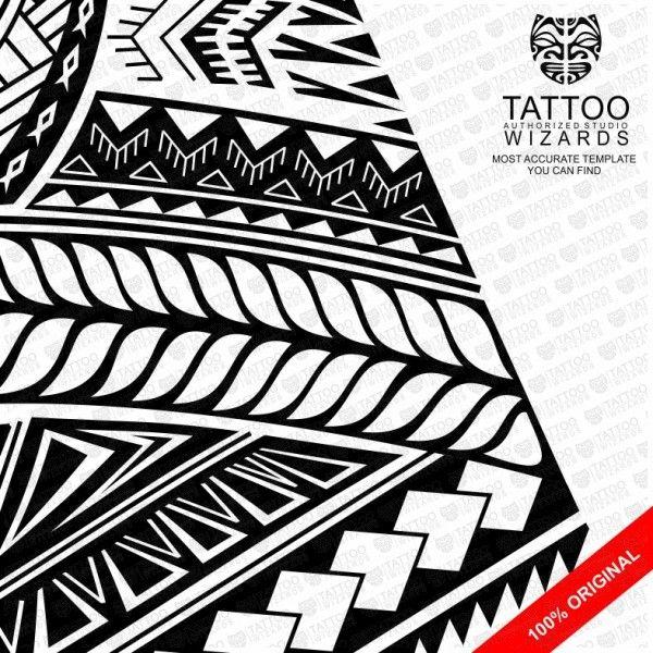 samoan turtle shield vector tattoo template stencil