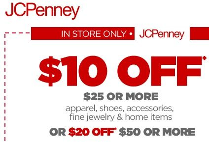 805c813995809 There is a new JCPenney printable coupon available. Save  10 off any  purchase of  25 or  20 off  50.