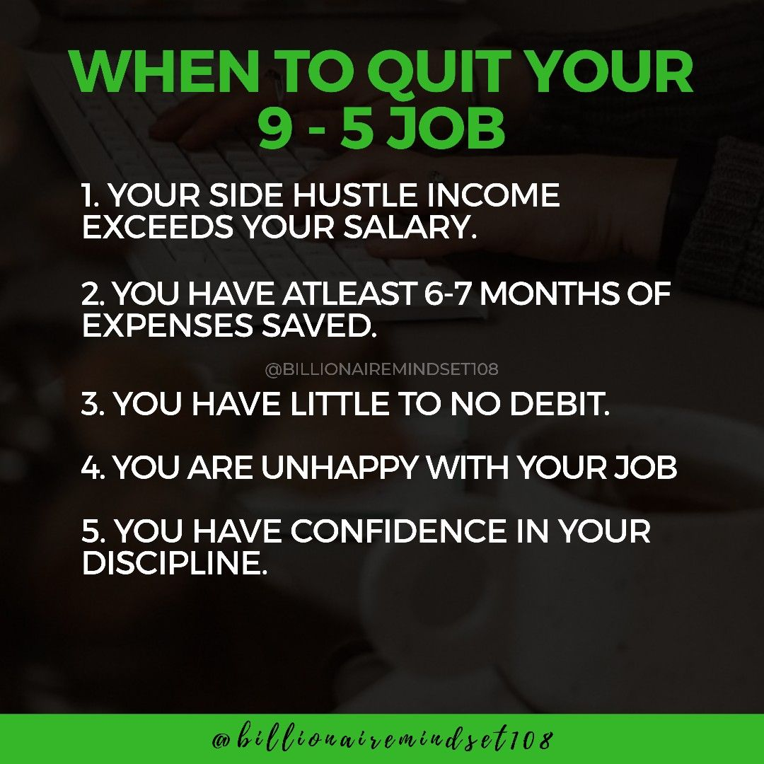 When to quit your 95 job in 2020 Quites, Motivational