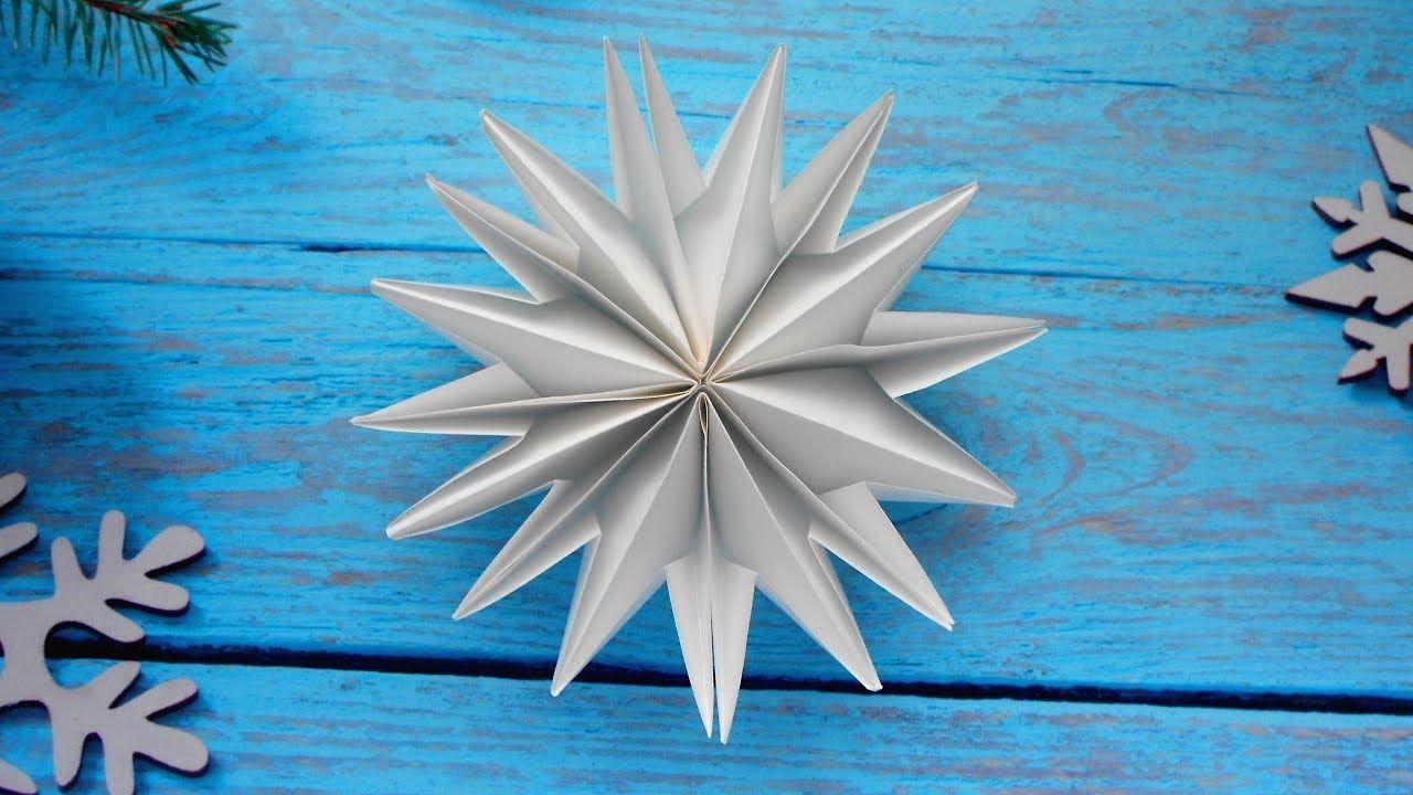Fiocchi Di Neve Di Carta Fai Da Te : Fiocco di neve di carta ❄ fai da te per il nuovo anno origami