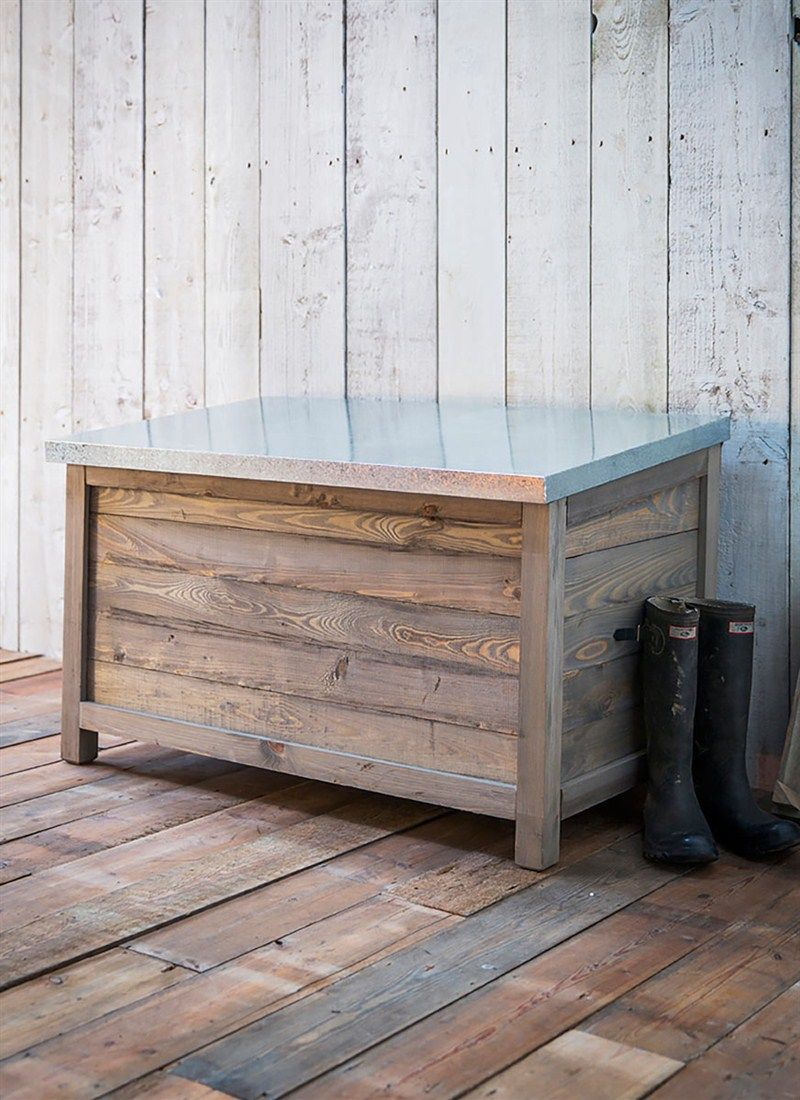 Genial This Robust Rustic Wooden Garden Storage Box Can Provide Indispensable  Storage, A Great Alternative To A Garden Shed For Those With Small Spaces. /