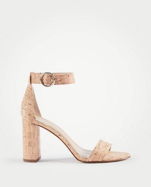 180432ca45b Ann Taylor Leannette Cork Block Heel Sandals