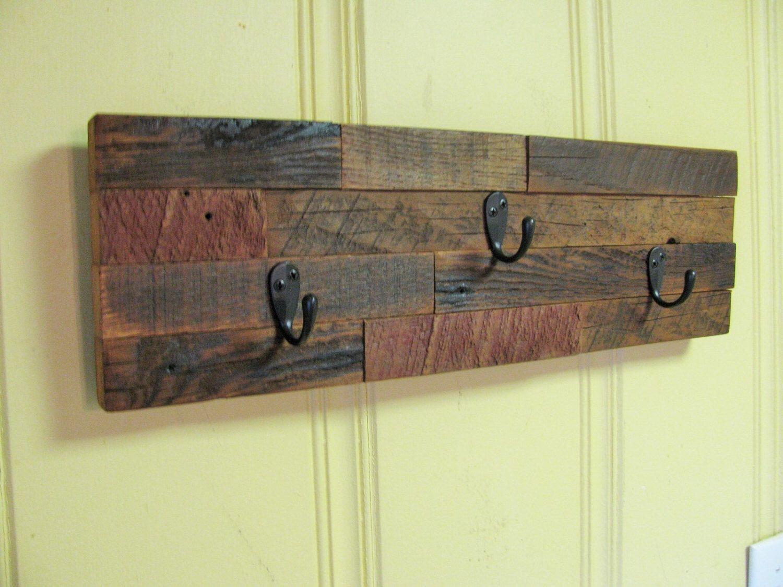Rustic Key Holder, Coat Rack, Repurposed Barn Wood, Barnwood by ...