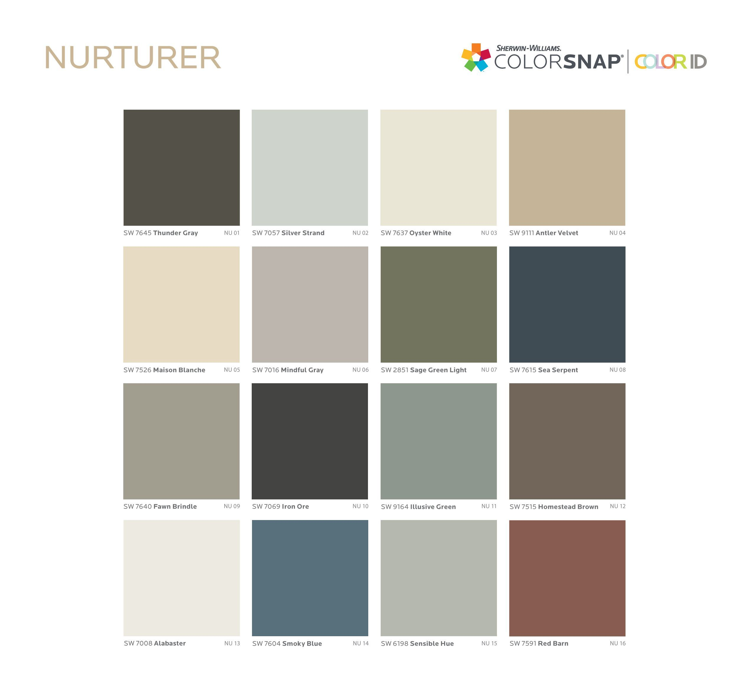 Take This Quiz To Find Out What Color You Should Paint Your Walls Sherwin Williams Color Palette Sherwin Williams Colors Sage Green Paint Color