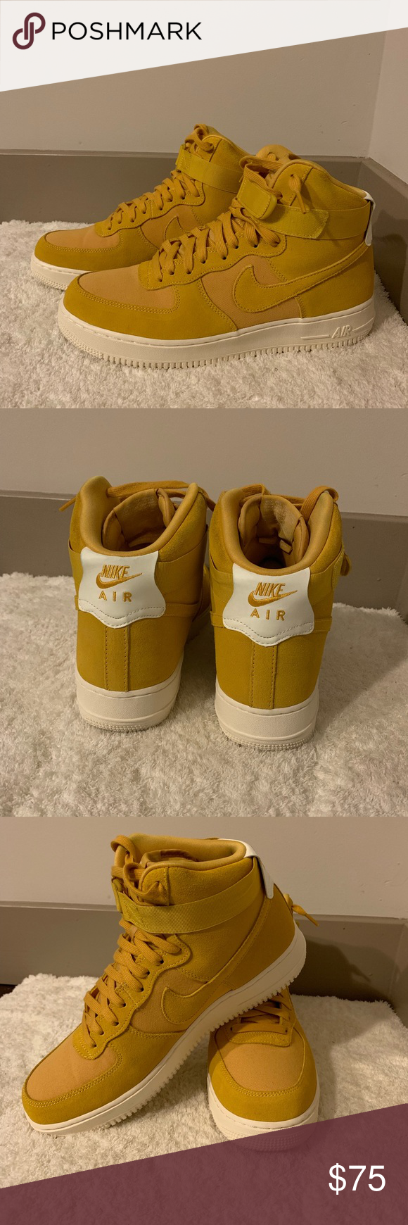 Men's Air Force 1 Hightop High tops, Nike gold, Air force