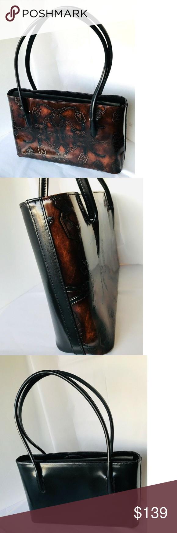 Simone Firenze Leather Handbag Italy