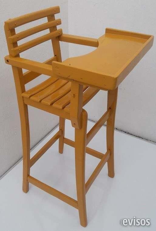 Sillas periqueras de madera silla periquera de madera for Silla de bebe de madera