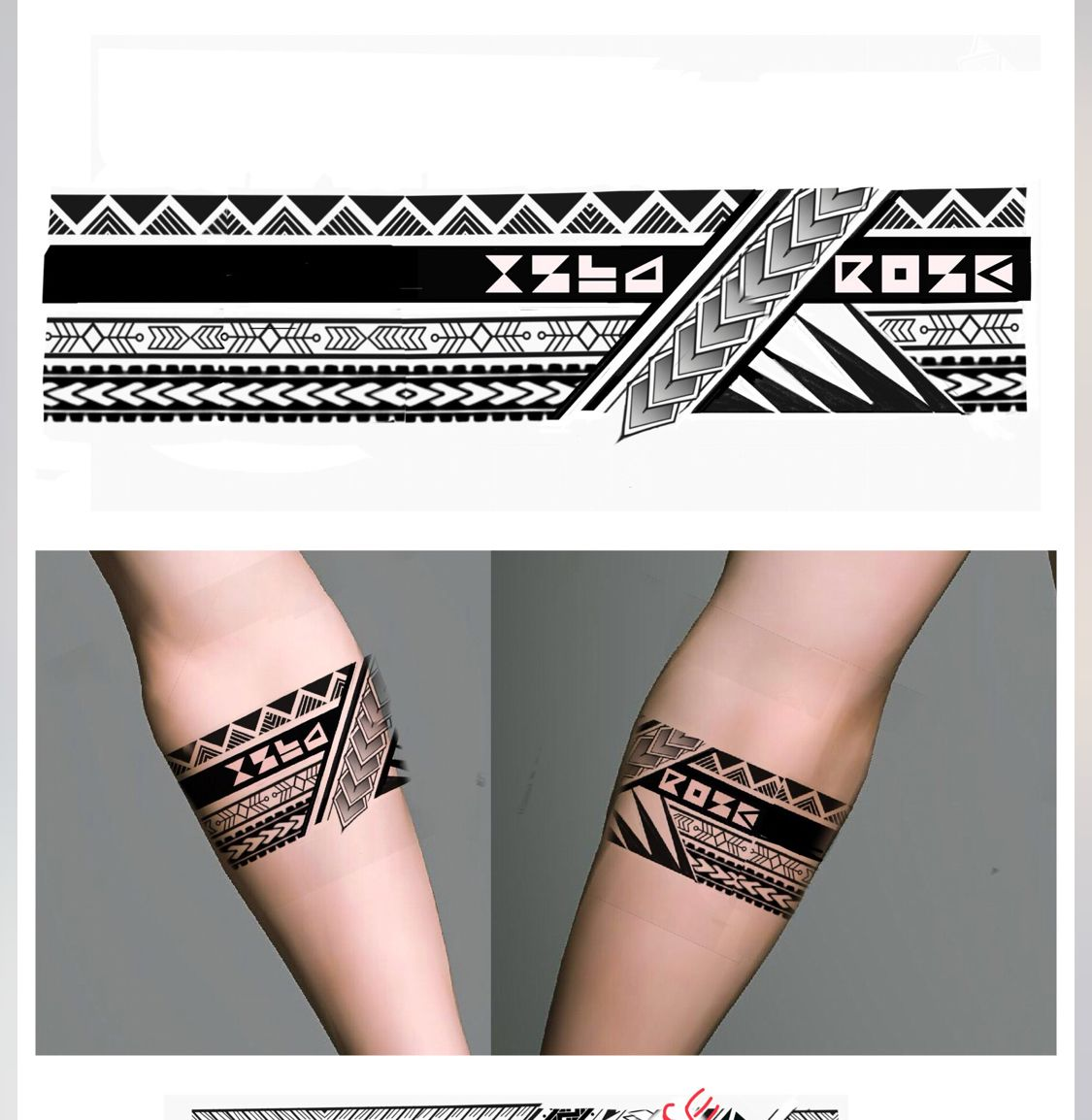 Tribal Geometric Armband Tattoo Designs Armband Tattoo Design Forearm Band Tattoos Tribal Armband Tattoo