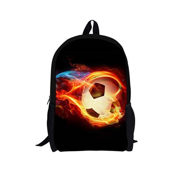 bd882abc3d FORUDESIGNS Ball Black Backpacks for 7-13 Teenager School Boys 16 Inch  Kanken Backpack Mochila Infantil School Bag Rucksack