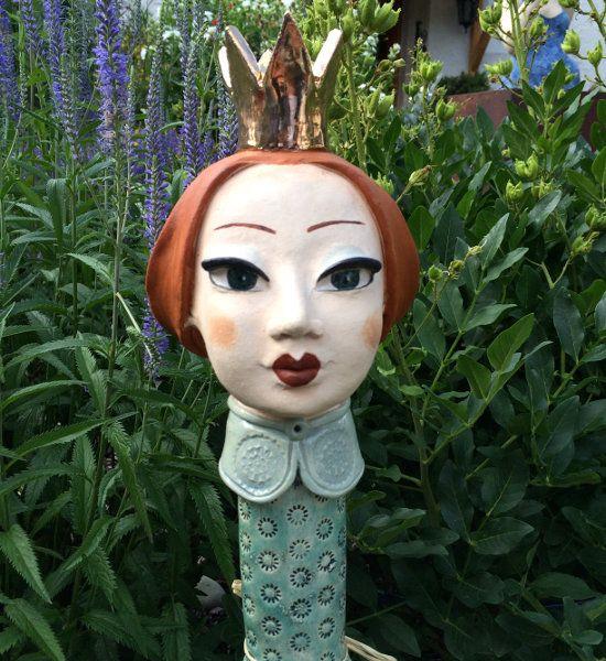 König und Königin als Deko Gartenstecker | Keramik Kunst Blog