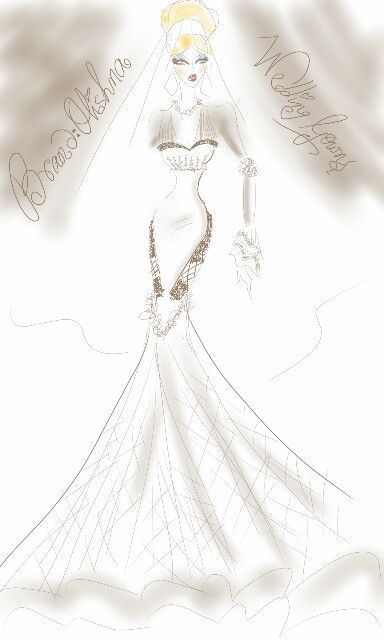 Gown illustration by Brand : Olishna ♡♥♡ on fb.