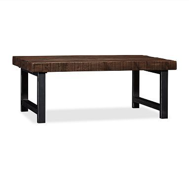 Griffin Wrought Iron & Reclaimed Wood Grand Coffee Table