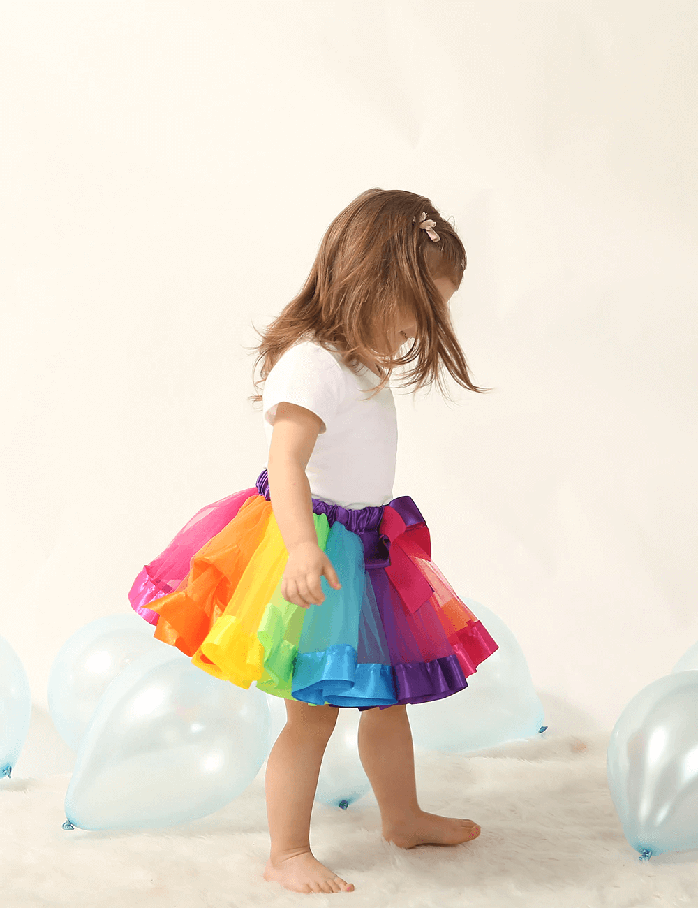 GIRLS RAINBOW TUTU SKIRT MULTICOLOURED PETTICOAT KID/'S COSTUME BALLET DANCE