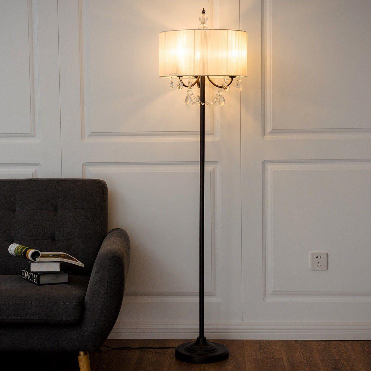 Safstar Elegant Sheer Shade Floor Lamp 61 Inch Height with