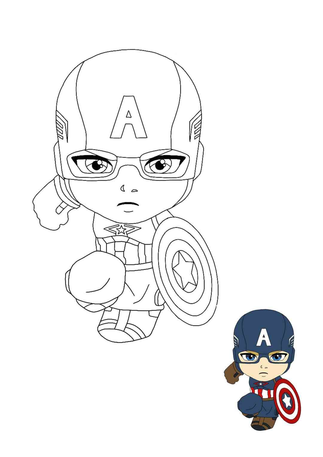 Young Captain America Coloring Pages In 2020 Captain America Coloring Pages Coloring Pages Captain America