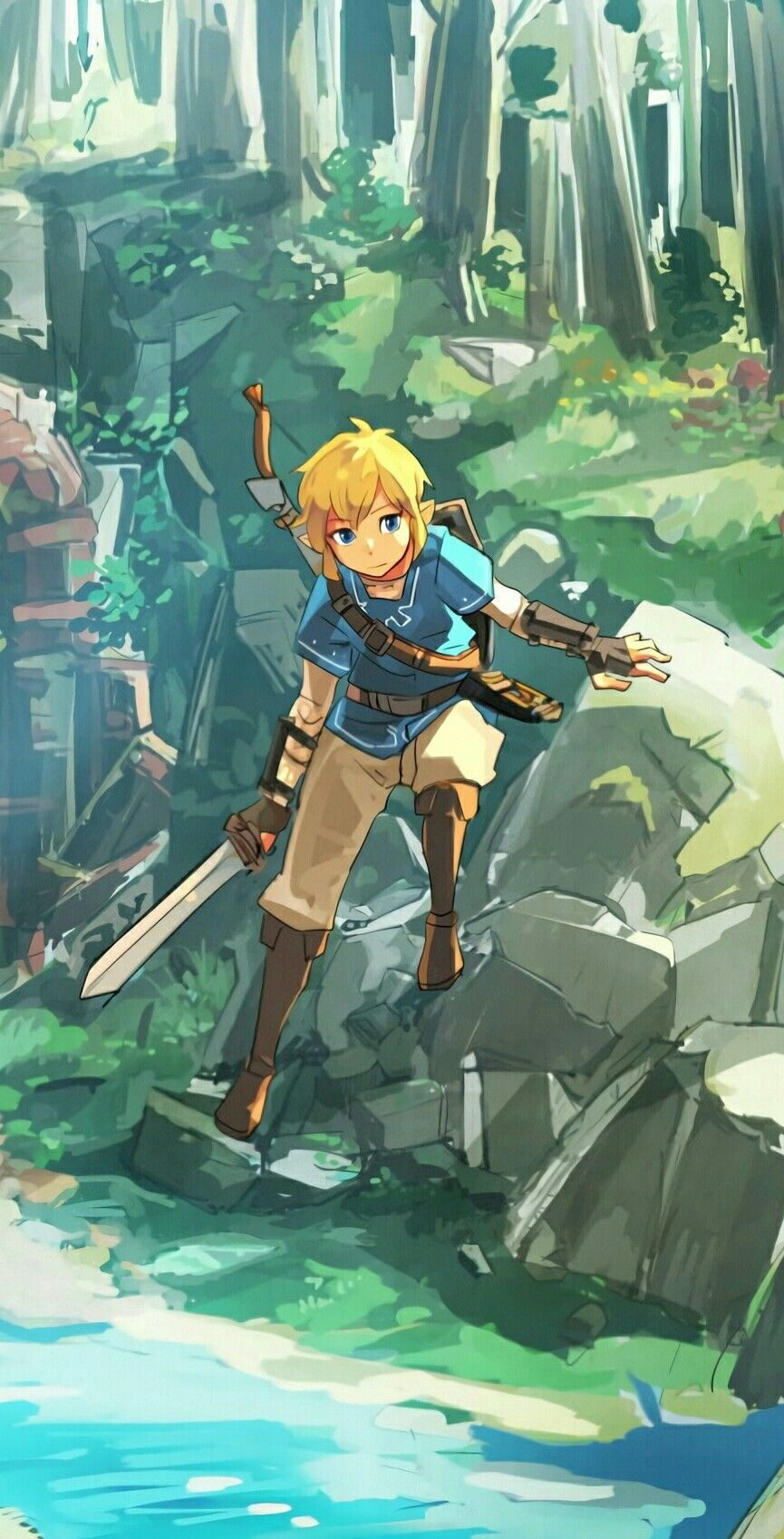 Link Wallpaper Drawings For Me Legend Of Zelda Breath Link