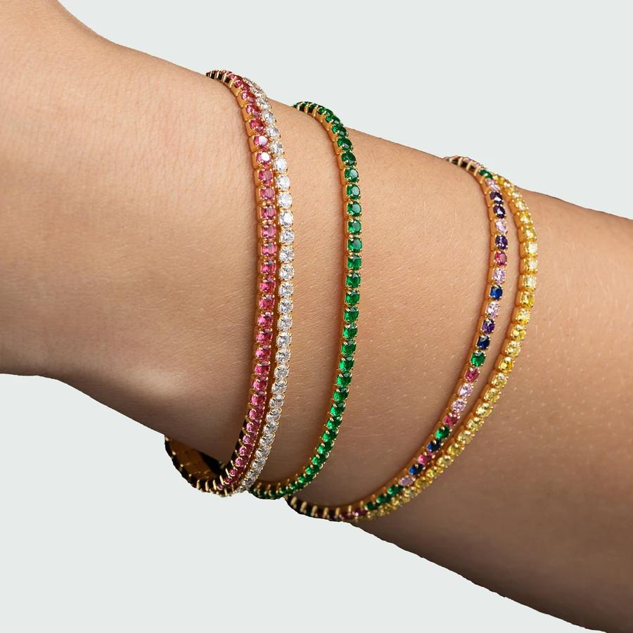 Beautiful Rainbow Bracelet In 2020 Armband Pink Armband Munzschmuck