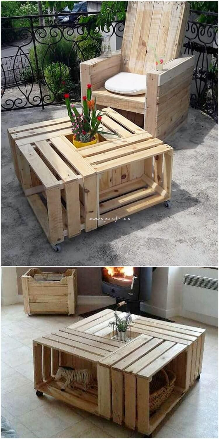 This Is A Decent And A Much Sophisticated Creation Of The Wood Pallet Coffee Table Fo Pallet Wood Coffee Table Pallet Furniture Designs Wooden Pallet Furniture [ 1500 x 750 Pixel ]