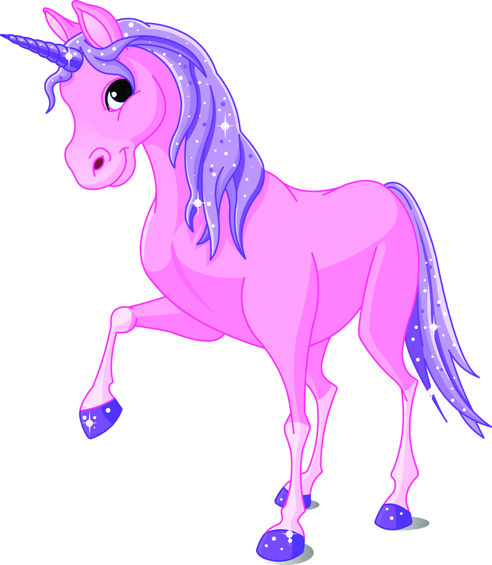 Royalty Free Clipart Illustration Of A Cute Pink And Purple Winged Unicorn Banner Label Description From Clipartof