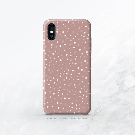 Iphone 11 Case Mauve Polka Dots Iphone 11 Pro Case Iphone 11