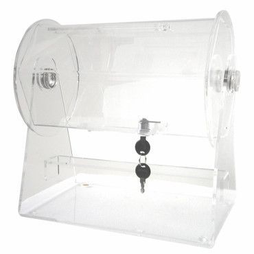 Merske RFL-AC-S Acrylic Small Raffle Ticket Drum