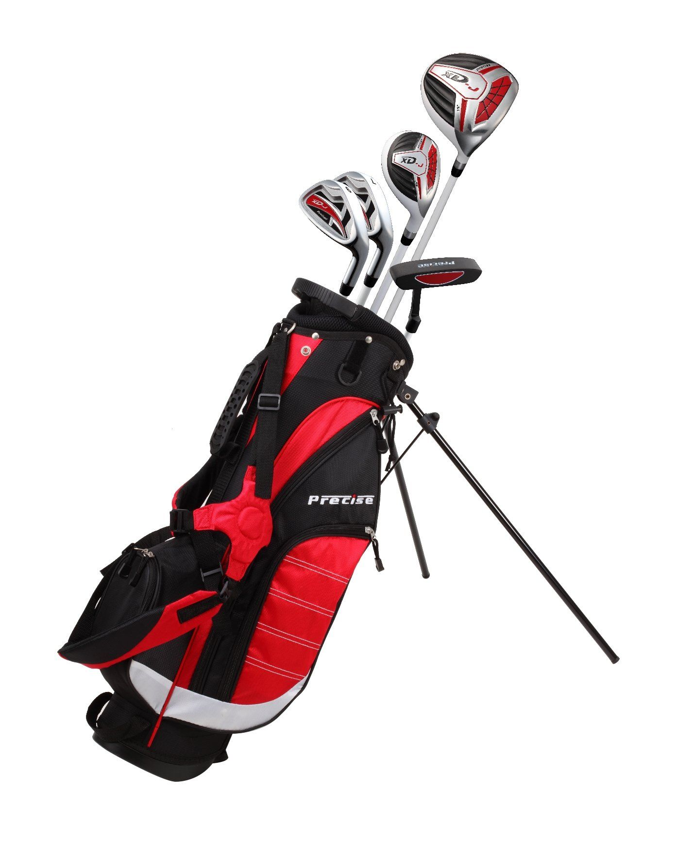 2f58a1f2e7 Golf Bag     Precise Remarkable Right Handed Junior Golf Club Set for Age 6  to 8 Height 38 to 44 Set Includes  Driver 15 Hybrid Wood 25 7 9 Iron Putter  ...