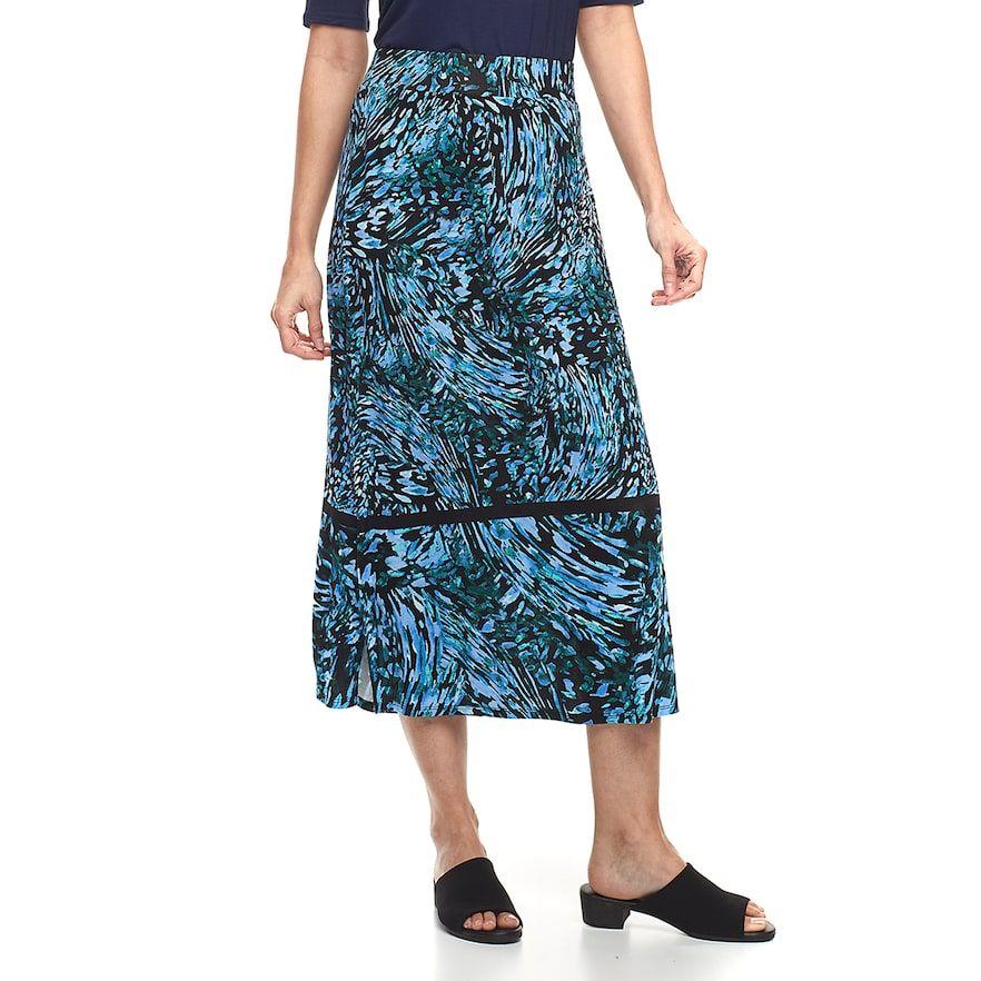 6aa846a72 Petite Dana Buchman Slit Maxi Skirt, Women's, Size: XL Petite, Brt Blue