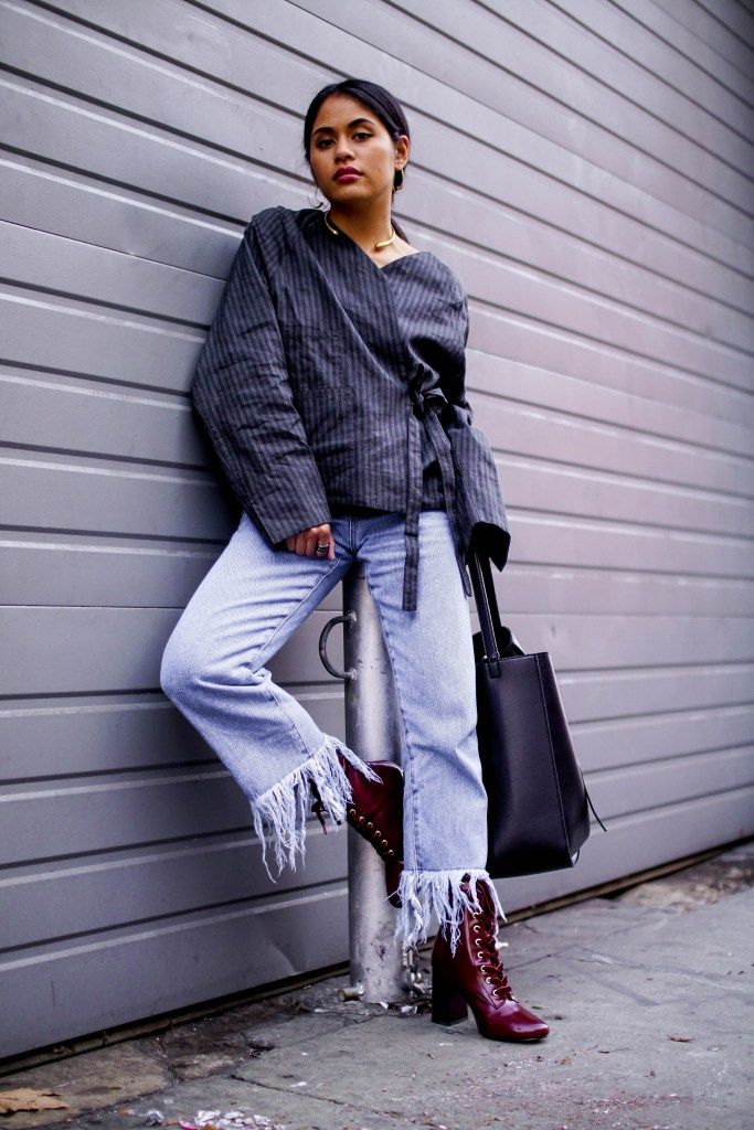 Forever 21 Frayed Jeans and Ankle Boots