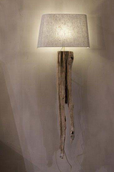 wandlampen Landelijke wandlamp oud drijfhout Woonland
