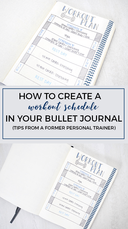Create a Workout Schedule in Your Bullet Journal | Workout ...