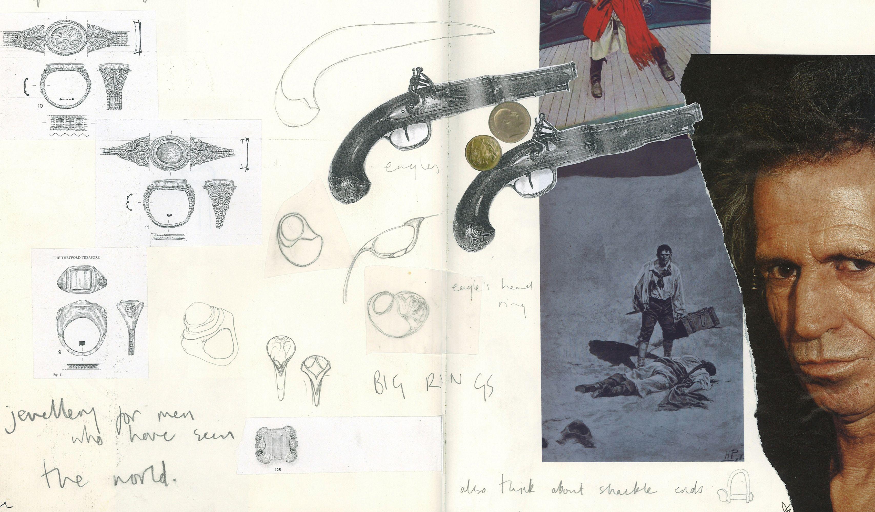 Aguila Dorada: Sketchbook design development. Shop collection: https://www.hannahmartinlondon.com/shop-category/116-aguila-dorada#/price-375-21400
