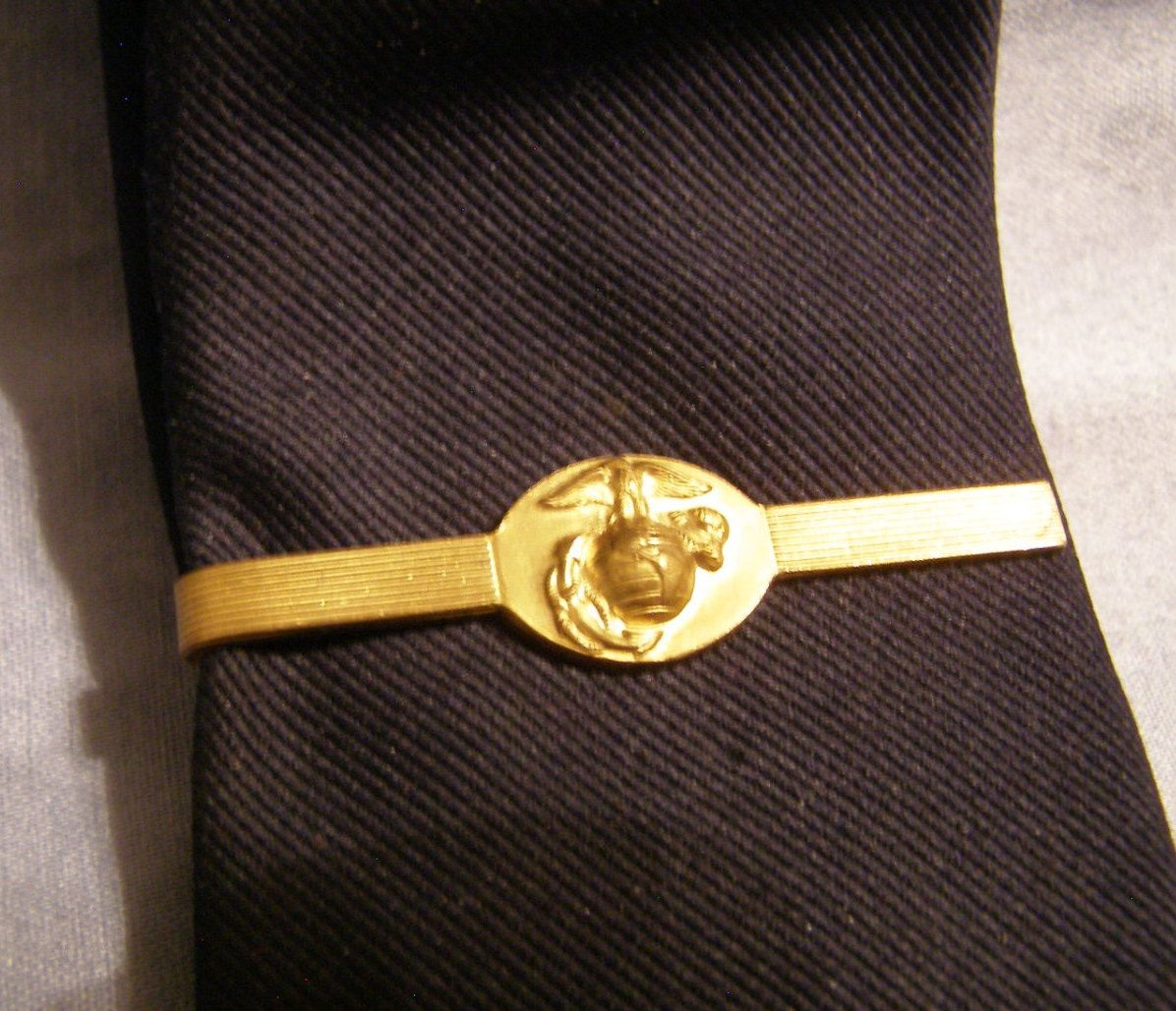 Us marine corps globe anchor insignia tie clip w gold plate finish usmc globe anchor insignia tie clip us marine corps official gi jewelry gold plate finish vintage military tie clasp valentines gift by ccuart Images