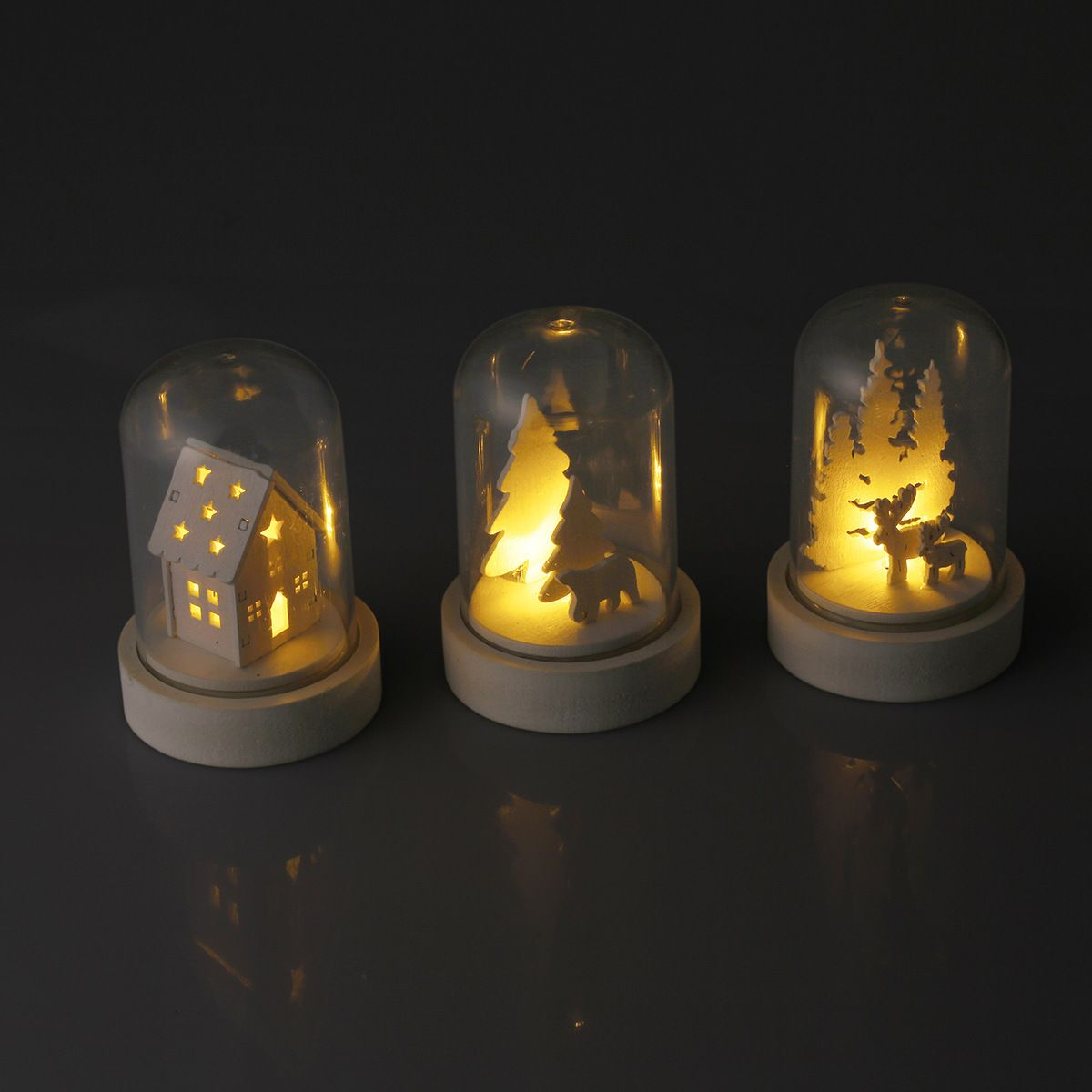 Battery Operated Mini Light Up Dome Assorted Kmart Xmas Lights Christmas Apartment Novelty Lamp