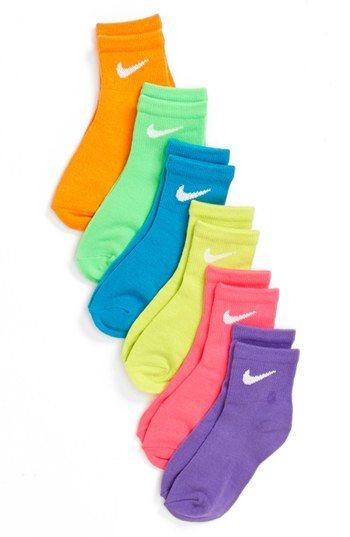 a2736d8bf Nike 'Neon' Low Cut Socks (6-Pack) (Toddler Girls & Little Girls) |  Nordstrom