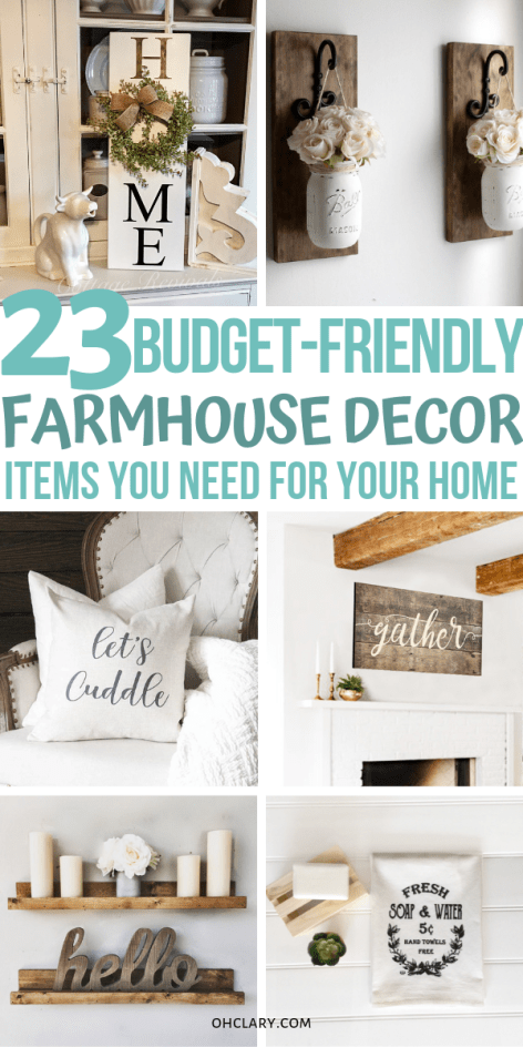 23 Cheap Farmhouse Decor Items - Where To Buy Farmhouse Decor On a Budget Online images
