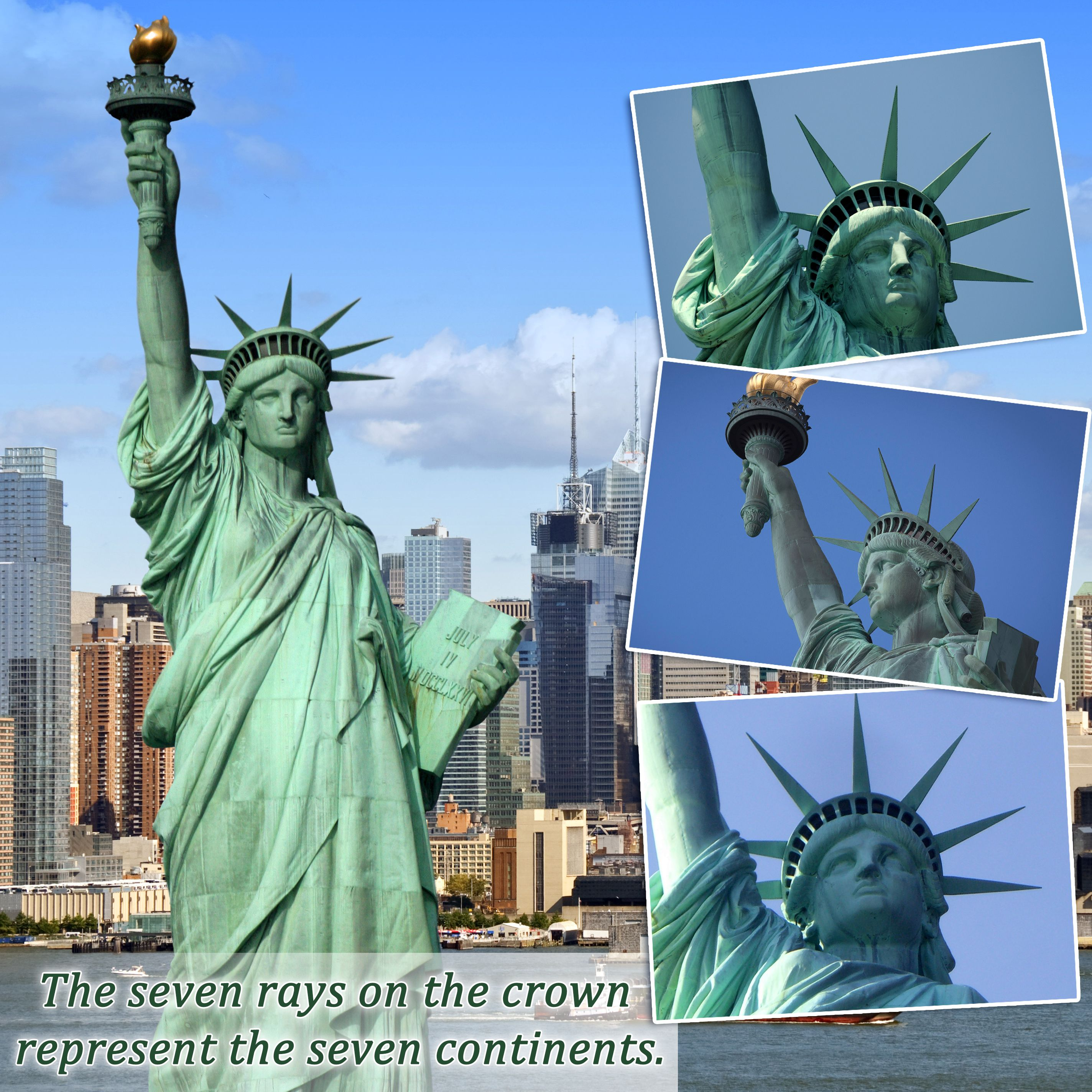 The Seven Rays On The Crown Of The Statue Of Liberty