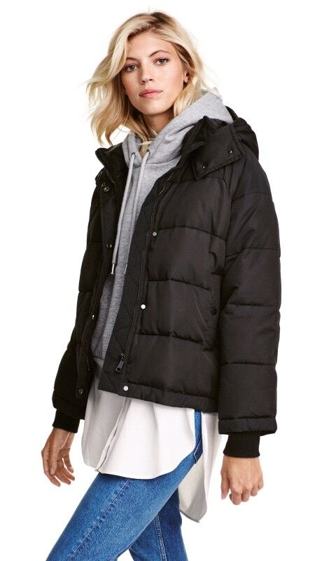 gut aussehen Schuhe verkaufen Für Original auswählen große sorten Wattierte Jacke H&M | F a s h i o n | Wattierte jacke damen ...