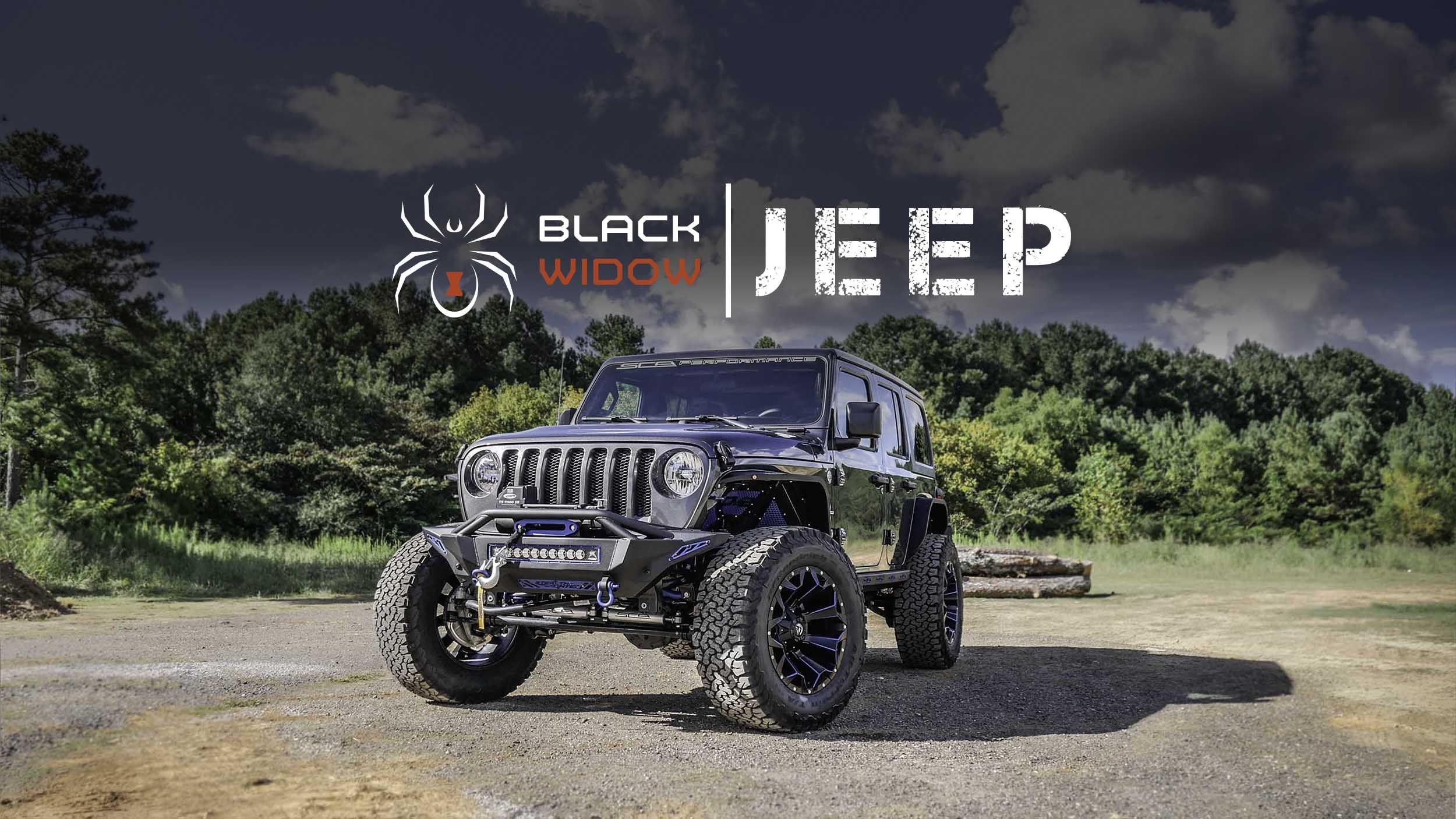 Jeep Jl Black Widow Custom Lifted Jeeps Sca Performance Black