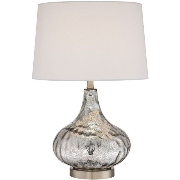 Universal Lighting And Decor Amaya Silver Mercury Gl Table Lamp 90 Liked On