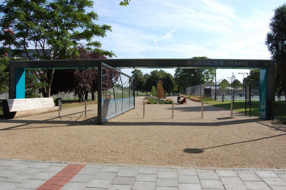 01 Burgess Park Camberwell Road Entrance Landscape Architect Main Gate Design Landscape