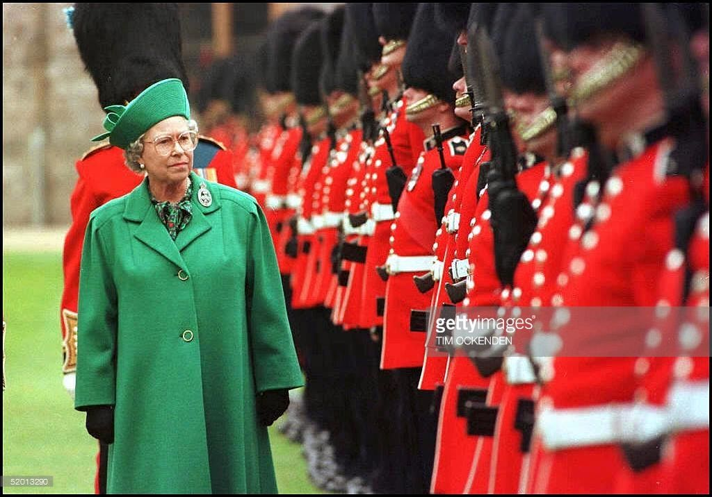 The Queen at Windsor Castle today (Thursday) inspects the Guard of the 1st…