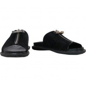 Charles And Keith Black Sandals Sepatu Flat Shoes Sandal